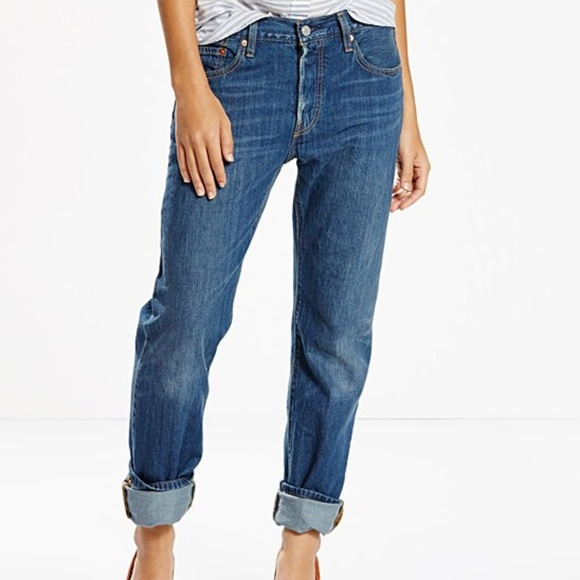 Leviu0027s 501 Boyfriend Jeans Moon Shadows Wash